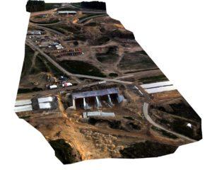 Motorway construction site 3D model