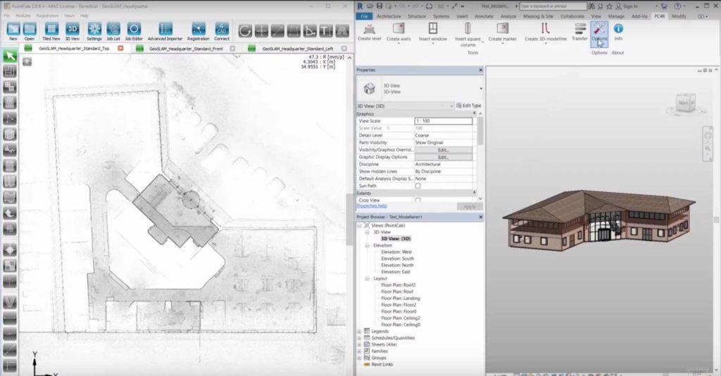 Jak ideálně využít naskenované mračno bodů v softwaru Autodesk Revit?